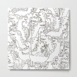 Dinosauriformes Metal Print