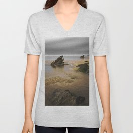 Fistral Beach, Newquay, Cornwall, England United Kingdom Unisex V-Neck