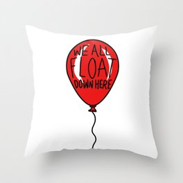 IT We All Float Down Here Red Balloon Throw Pillow