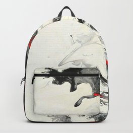 Black Red White Fluid Marble Painting Abstract Art Backpack