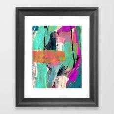 [Still] Hopeful - a bright mixed media abstract piece Framed Art Print