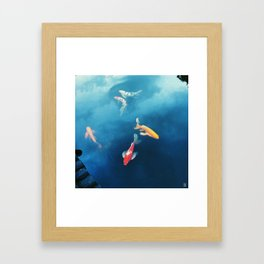 Fish, Sky and Clouds Framed Art Print