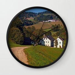 Beautiful traditional farmland scenery   landscape photography Wall Clock