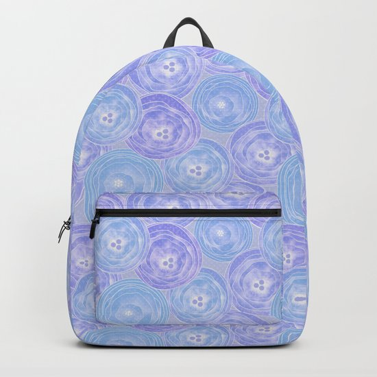 Blue and lilac anemones . Backpack
