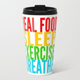 Eat, Sleep, Exercise, Breathe Travel Mug