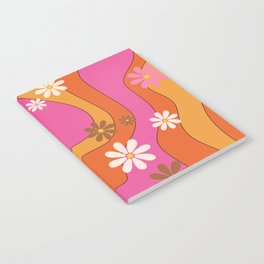 Groovy 60's and 70's Flower Power Pattern Notebook