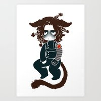 bucky Art Prints featuring bucky by cynamon