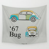 bug Wall Tapestries featuring '67 Bug by k_design