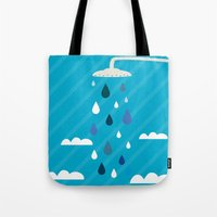 shower Tote Bags featuring shower  by mark ashkenazi