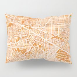 Zapopan, Jalisco, Mexico, Gold, Blue, City, Map Pillow Sham