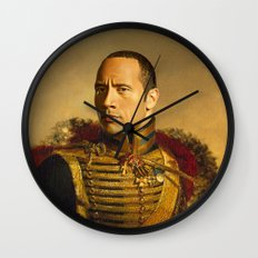 Dwayne (The Rock) Johnson - replaceface Wall Clock
