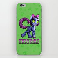 cheshire cat iPhone & iPod Skins featuring Cheshire by Jolie Bonnette Art