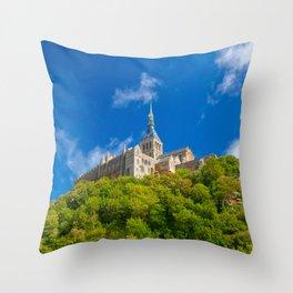 Mont Saint-Michel Abbey Throw Pillow