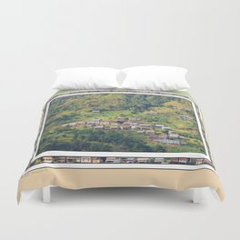 TERRACED HIMALAYAN FOOTHILLS VILLAGE IN NEPAL Duvet Cover