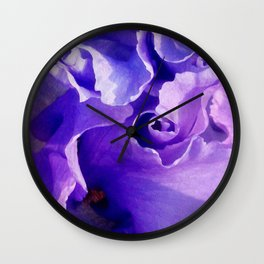 498 - Flower Abstract Wall Clock