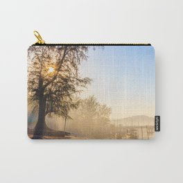Misty morning on a river estuary, Trang province, Thailand Carry-All Pouch
