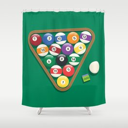 Billiard Balls Rack - Boules de billard Shower Curtain