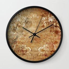 Antique Vintage Floral Decorative Old Wall Clock