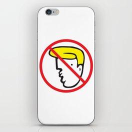 NO TRUMP Protest Art iPhone Skin