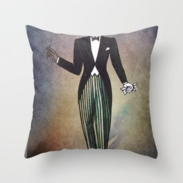 El Catrin Throw Pillow