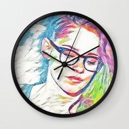 Kristen Stewart - Celebrity Art (Colorful Illustration) Wall Clock