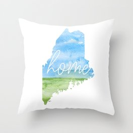 Maine Home State Throw Pillow