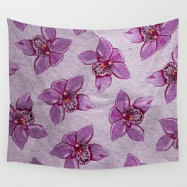 Orchids Pattern Wall Tapestry