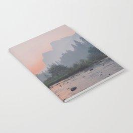 Yosemite Valley Sunrise Pretty Pink Notebook