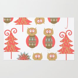 Owls pattern t4 Rug