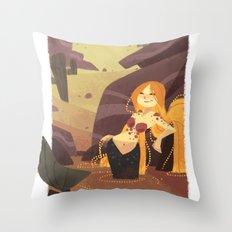 Desert Mermaid Throw Pillow