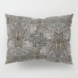 Feathers and bones -Desert sand Pillow Sham