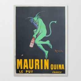 Vintage poster - Maurin Quina Canvas Print