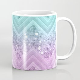 Mermaid Glitter Chevron #1 #shiny #decor #art #society6 Coffee Mug