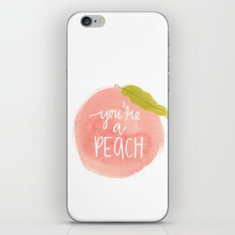 You're a Peach Watercolor Painting iPhone Skin
