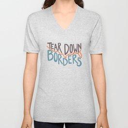 Tear Down Borders Unisex V-Neck