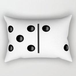 White Domino / Domino Blanco Rectangular Pillow