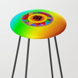 Ohm with Chakra Colours Counter Stool