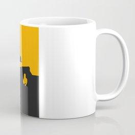 Saab 900 classic, Yellow on Black Coffee Mug