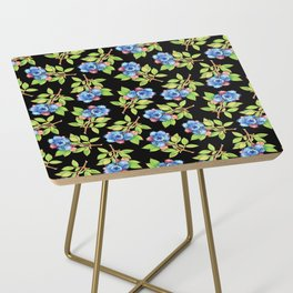 Wild Blueberry Sprigs Side Table