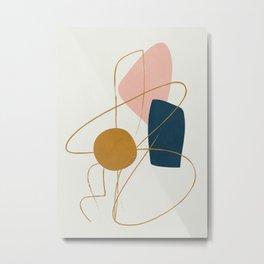 Minimal Abstract Shapes No.46 Metal Print