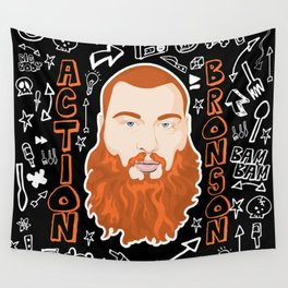 Action Bronson Portrait Wall Tapestry