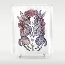 Rare Hearts Shower Curtain