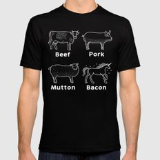 Bacon is Magical MEDIUM Black Mens Fitted Tee