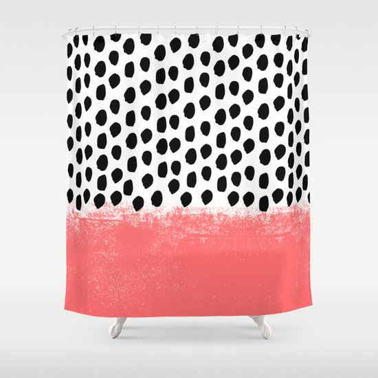 Lola   Abstract, Pink, Brushstroke, Original, Painting, Trendy, Girl,. Shower  Curtains ...