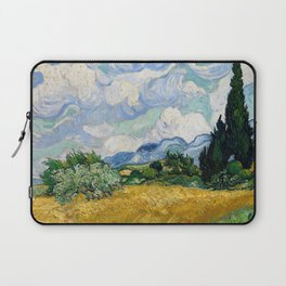 Wheat Field with Cypresses Laptop Sleeve