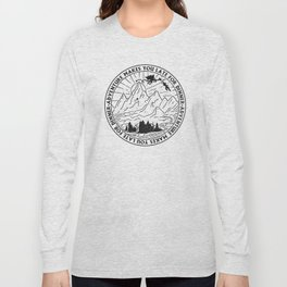 adventure makes you late for dinner x typography Long Sleeve T-shirt