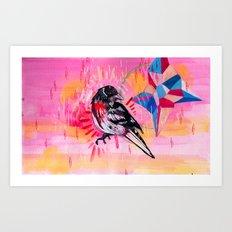 Pink and neon Art Print