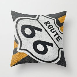 Route 66 sign. Throw Pillow