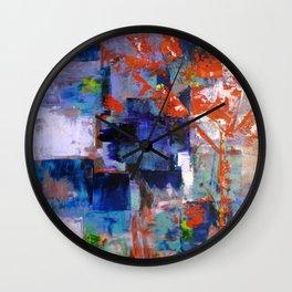 The Autumn Tree: Abstract Acrylic Painting of the Fall season Wall Clock