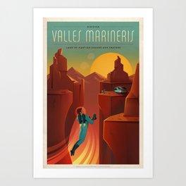 SpaceX Mars tourism poster / Valles Marineris NF Art Print